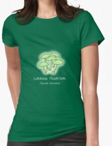 Luminous Mushroom (without smiley face) Womens Fitted T-Shirt