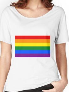 Gay Pride Rainbow Logo Flag Women's Relaxed Fit T-Shirt