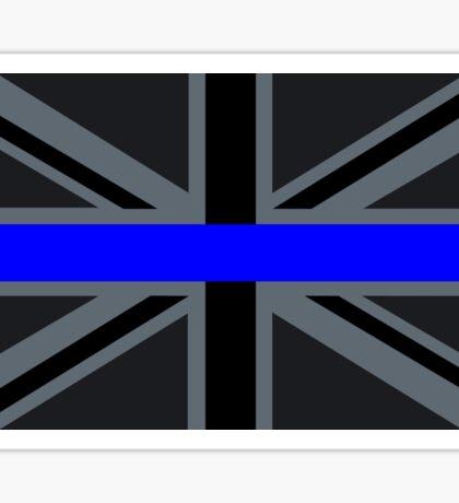 Thin Blue Line on Union Jack Sticker