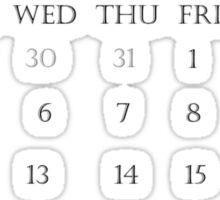 Calendar April 2016 Sticker