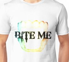 BITE ME - rainbow Unisex T-Shirt