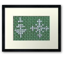 Christmas tree and snowflake Framed Print