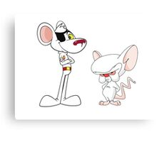 Danger Mouse & The Brain Canvas Print