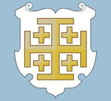 Coat of Arms of the Kingdom of Jerusalem (1099–1291) Kids Tee