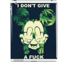 summer weed i dont give a fuck iPad Case/Skin