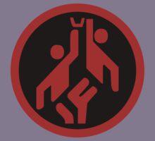 Basketball, modern large icon scarlet red on black Kids Tee