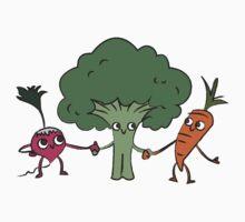 Veggie Friends One Piece - Short Sleeve