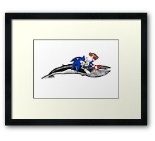 Sonic the Hedgehog - Whale? Framed Print