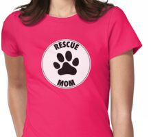 RESCUE MOM - CIRCLE - Alternate Womens Fitted T-Shirt