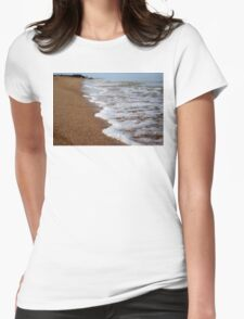 Down by the beach Womens Fitted T-Shirt