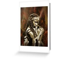 Michonne - The Walking Dead Greeting Card