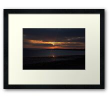 Evening Luminance Framed Print