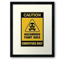 hazardous graffiti Framed Print