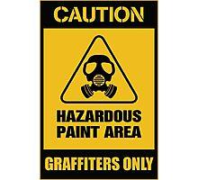 hazardous graffiti Photographic Print