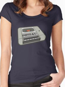 Commodore 64 Datasette Tape Recorder Women's Fitted Scoop T-Shirt