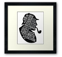 sherlock holmes gaphic art Framed Print
