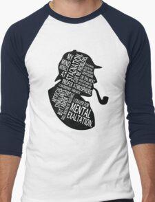 sherlock holmes gaphic art Men's Baseball ¾ T-Shirt