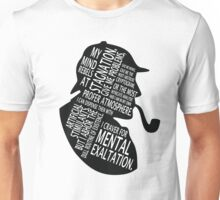 sherlock holmes gaphic art Unisex T-Shirt