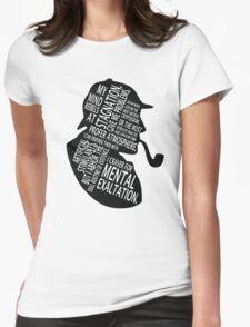 sherlock holmes gaphic art Womens Fitted T-Shirt