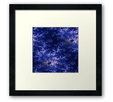 Dark Blue Fractal  Framed Print