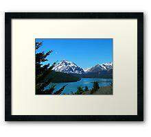 Clear Blue Lower Two Medicine Lake Framed Print