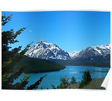 Clear Blue Lower Two Medicine Lake Poster