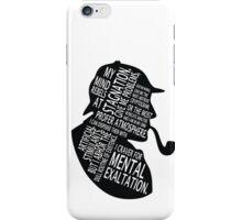 sherlock holmes gaphic art iPhone Case/Skin