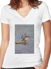 Cormorant Women's Fitted V-Neck T-Shirt