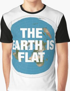 Flat earth research the truth Graphic T-Shirt