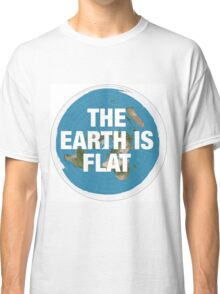 Flat earth research the truth Classic T-Shirt