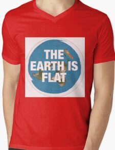 Flat earth research the truth Mens V-Neck T-Shirt