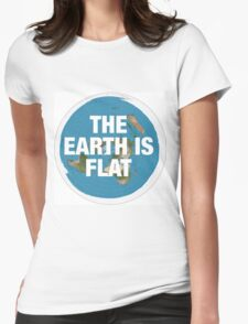 Flat earth research the truth Womens Fitted T-Shirt