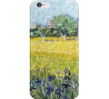 Vincent van Gogh - View of Arles with Irises iPhone Case/Skin