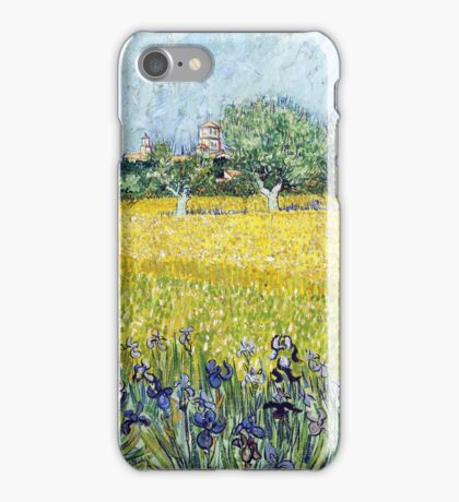 Vincent van Gogh - View of Arles with Irises iPhone Case/Skin