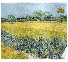Vincent van Gogh - View of Arles with Irises Poster