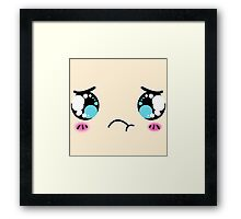 Chibi Face Framed Print