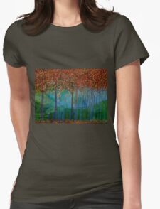 Autumn Trees Womens Fitted T-Shirt