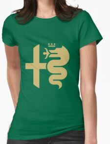 Gold Alfa crest Womens Fitted T-Shirt