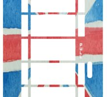 UK Phone Booth Box in Union Jack Flag Watercolors Red, White and Blue Sticker