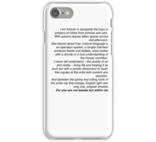 Loving Someone - The 1975  iPhone Case/Skin