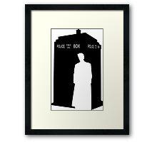 Minimalist TARDIS & 10th Doctor / David Tennant Framed Print