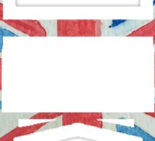 Tower Bridge London River Thames in UK Flag Water Colors Red, White and Blue Sticker