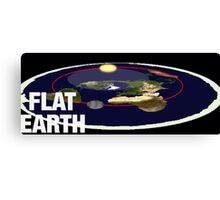 Is the earth flat flat earth Canvas Print