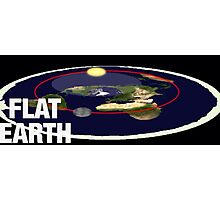 Is the earth flat flat earth Photographic Print