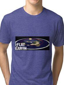 Is the earth flat flat earth Tri-blend T-Shirt