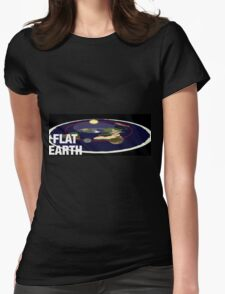 Is the earth flat flat earth Womens Fitted T-Shirt