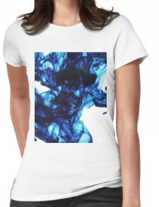 Ink Droplets Womens Fitted T-Shirt