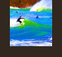 80'S Surf Style -  Beach Break Blues Unisex T-Shirt