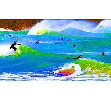 80'S Surf Style -  Beach Break Blues Photographic Print