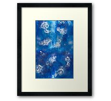 Blue Water Jelly 1-4 Framed Print
